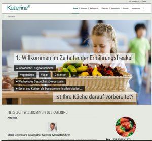 Frischer Webauftritt für Katerines Frischeküche!