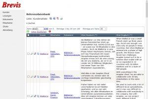 Schauen Sie sich das Beispiel einer Referenzdatenbank direkt an ...